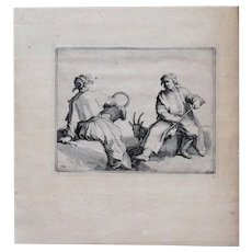 Bloemaert, Frederik after Bloemaert, Abraham (Dutch): Engraving, 1656. Watermarked Laid Paper.