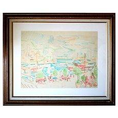 Kaufmann, Wilhelm (Austrian, 1895-1975): Monaco, c.1960s. Color on Paper. Original.