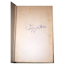Irving Stone: The Agony and the Ecstasy, 1961. Author Signed. Doubleday & Co.