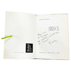 Sinisca (Siniscalco). Inscribed by Artist Illustrated Monograph. 1961, Rome, Italy