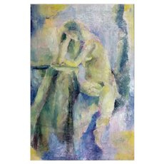 Helen Lefkowitz Schwimmer (attributed) : Nude. 1962, Oil on Canvas.