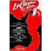 La Cage aux Folles Musical, Poster of 08.21.1983 Broadway Opening