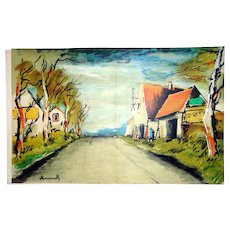 Vlaminck, with Original Lithograph by Mourlot. 1958 First Edition