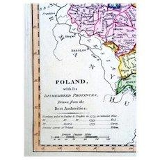 Thomas Conder: Poland with Dismembered Provinces. 1794, First edition of Robert Wilkinson General Atlas