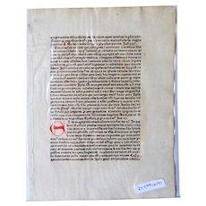 Thomas Ebendorfer de Haselbach: Sermones Dominicales Super Epistolis. 1478 Heinrich Knoblochtzer, Strassburg