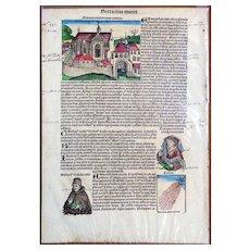 Nuremberg Chronicle, 1493 Incunabula Folio CCXXII (122).
