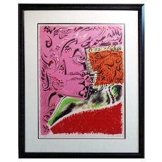 Andre-Aime-Rene Masson (French, 1896-1987): Visage. c.1960. Lithograph on Arches. Signed & Numbered