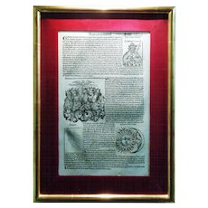 Nuremberg Chronicle Incunabula. Folio C.L.V.I.I. 1493