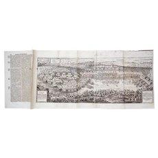 Battle of Breitenfeld, 30-Years War. Engraving by Olaf Hanson. 1646, Matthaus: Theatrum Europaeum