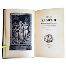 Marquis de Sade: Opus Sadicum (Justine ) 1889, Paris, Liseux, 1st English Edition 173/250