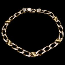Tiffany & Co Sterling Silver 18k Gold  Cable Link Bracelet
