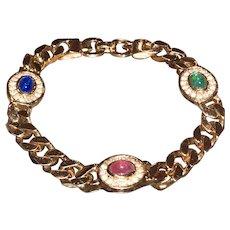 A chic vintage Grosse goldstone link bracelet ca 1970.