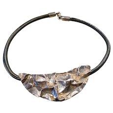 A striking sterling modernist Sergio bustamante necklace.