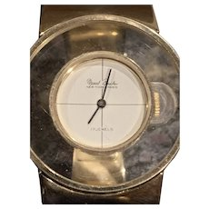 Marcel Boucher Mod Lucite Gold-tone Wrist Watch ca 1970