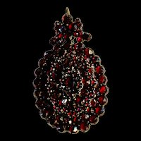 A lovely Victorian bohemian garnet locket.