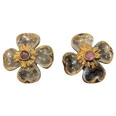 A fabulous pair GOOSSENS PARIS Trefle clip earrings.