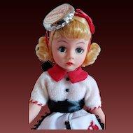 """Madame Alexander Cissette """"Coke Cola Collection"""" Carhop Doll c1997"""