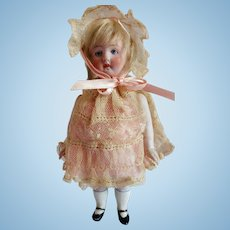 Rare Ernst Heubach Mold 573 All Bisque Doll With Swivel Head