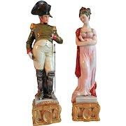 Capo di Monte Porcelain Figurines Napoleon & Josephine Bonaparte