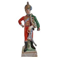 Capo di Monte Porcelain Cavalry Napoleonic War Figurine