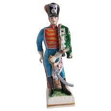 Capo di Monte Porcelain Hussar Cavalry Napoleonic War Figurine