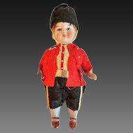 Kestner Style All Bisque 5 Piece Doll Original Costume