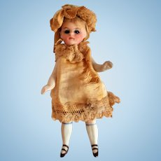 French Bisque Mignonette Doll All Original With Swivel Head