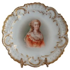 Limoges France  A. Lanternier Marie Antoinette Portrait Plate