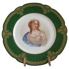 19th C. Sevres Porcelain Cabinet Plate Of Melle de La Valliere