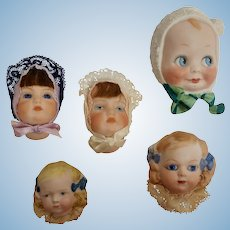 Vintage Handmade & Handpainted Bisque Doll Collectors Accessory  - Independent Artists