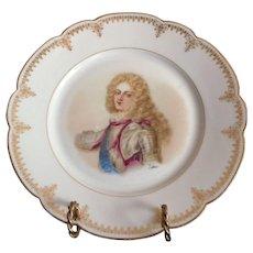 """Sevres Porcelain Cabinet Plate Of Duc de Bourgogue Chateau de Versailles 9 3/8"""""""
