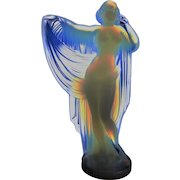 "Sabino Nude Statue ""Tanagra"" Opalescent Crystal Glass"