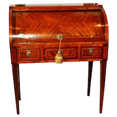 Louis XVI Style Cylinder Desk