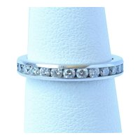 Tiffany and Co. Platinum 1.00 Cttw Eternity Band