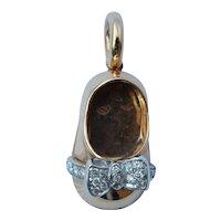 Aaron Basha 18K Baby Shoe Diamond Pendant