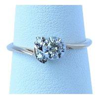 Antique 14K Gold Diamond Ring