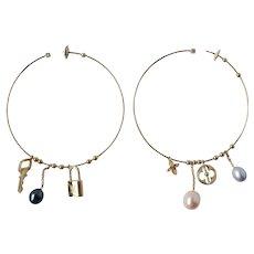 Louis Vuitton 18K Gold XL Monogram Hoop Earrings