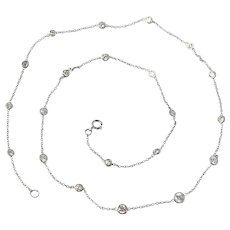 18k 1.62 Cttw Diamond By the Yard Necklace