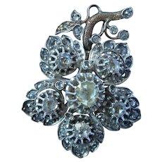 Georgian 14K Gold Silver Diamond Pendant