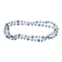 Tahitian Pearl Aquamarine 18k Gold Necklace 32""
