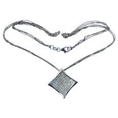 18k Gold 2.5 CTTW VS Diamond Necklace