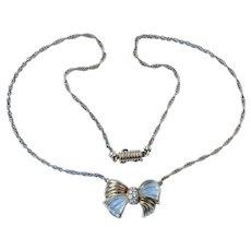 Boucheron 18K Gold Bow Diamond Necklace