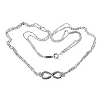 Tiffany & Co Sterling Silver Infinity Necklace 6.3 Grams