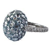 Busatti 18K Gold VS1 F Titanium Diamond Ring 2 CTTW