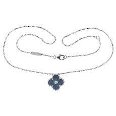 Van Cleef & Arpels Limited Edition Vintage Alhambra 18K Gold Diamond  Necklace