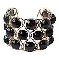 French 18k Gold 4CTTW Diamond Bracelet 95 Grams