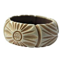 Miriam Haskell wide bangle bracelet