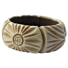 Miriam Haskell wide bangle bracelet