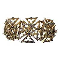 Loree Rodkin 18k gold 2.7cttw diamond purple sapphire bracelet