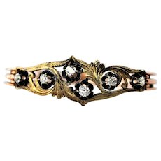 Antique Russian 14K Gold Diamond Bracelet 38 grams